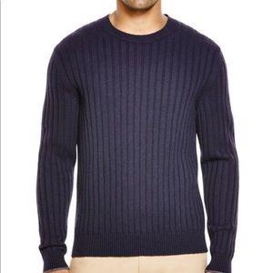 100 % cashmere textured men's sweater